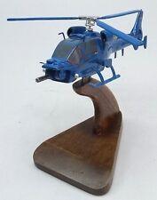 Blue Thunder Armed Police Helicopter Mahogany Kiln Dry Wood Model Large New
