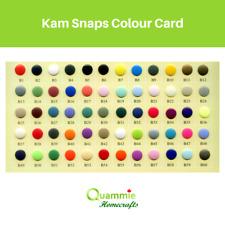 Kam Snap Colour Cards | B1 - B60 | Matte, Glossy