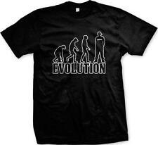 Evolution of Man to Swag Hip Hop Rap Music Pimpin Hustle Mens T-shirt