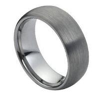 Tungsten Ring Full Brushed Gun Metal Gray Grey Wedding Anniversary TR069 IW