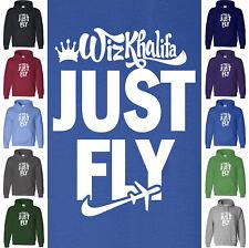 WIZ KHALIFA Hoodie JUST FLY Taylor Gang MMG Jay-Z NWA Rapper Hip Hop Sweatshirt