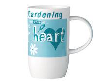 Wisdom Bone China Mug - GARDENING work of HEART - made in Stoke on Trent England