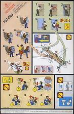 Royal Air Maroc B 737-800 -Code 1426 bold logo safety card good cond sc355