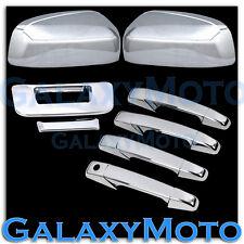 07-12 GMC Sierra Chrome Mirror+4 Door Handle noKH+Tailgate no KH no Camera Cover