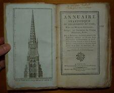 BOTTIN: Annuaire statistique du département du Nord pour l'an 12 / 1804 EO Rare