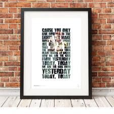 MY CHEMICAL ROMANCE ❤ Gerard Way ❤ MCR lyrics poster art prints The Kids #26