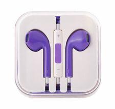 In Ear Stereo Kopfhörer 3,5 mm Klinken Anschluss Lila Lautstärkeregler Mikofon