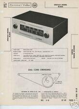 Dewald M-804 Tuner-Sams Photofact Tech Docs