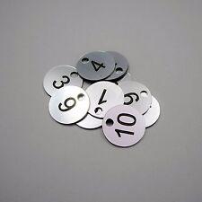 Set of 10x3cm Laser Engraved Number Discs, Table, Tags, Locker, Pub, Restaurant