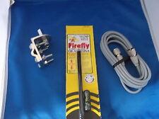 CB RADIO FIRESTIK FL4 BLACK FL4B 4FT CB ANTENNA, 18FT RG8X COAX, BRACKET & STUD