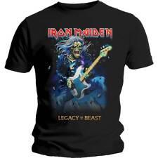 Iron Maiden legado de la bestia Eddie en el bajo Oficial Logo T-Shirt Todos Las Tallas
