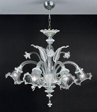 Lampadario In vetro di Murano Lavorato Veneziano 5 luci Murano Chandelier 5 ligh