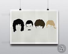QUEEN-minimalista POSTER Silhouette musica TESTE Modern Wall Art Freddie Mercury