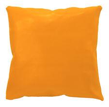 pe237a Gold Orange Faux Leather Classic Cushion Cover/Pillow Case Custom Size
