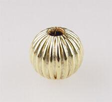 #831 14kt gold filled corrugaed round @4mm,5mm,6mm