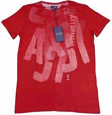 Armani Jeans Mens Red H/S Tshirt - Sz XXL & XXXL BNWT