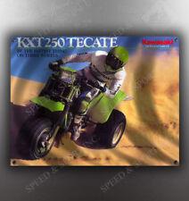 VINTAGE KAWASAKI KXT250 TECATE 3-WHEELER BANNER
