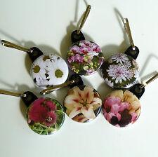 Choose Key rings Key Chain Gift Bag Charm Purse Flower