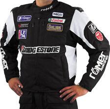 Roleff Racewear kurze Sponsoren Motorradjacke mit Protektoren in Schwarz / Weiss