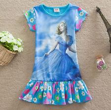 Cenerentola - Vestiti Bambina - Cinderella Girl Dresses - Manica Corta  - 224001