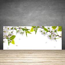 Küchenrückwand aus Glas ESG Spritzschutz 125x50cm Blumen Blätter Natur