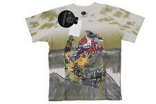 T-shirt da bambino beige MauiandSons manica corta girocollo squalo junior moda