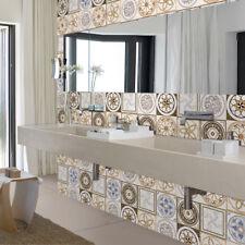 3D Tile Stickers Backsplash Bathroom & Kitchen DIY Floor Decals Wallpaper Mural