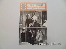 CARTE FICHE CINEMA 1953 RUE DE L'ESTRAPADE Anne Vernon Louis Jourdan D.Gélin