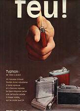 PUBLICITE  1969   FEUDOR  briquet Typhon