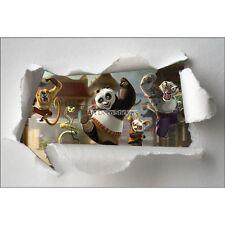 Pegatinas niño papel desgarrado Kung Fu panda ref 7641