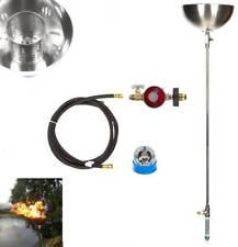 72 inch Tall DIY Backyard LP Gas Torch Bowls Lifetime Warr 316 Stainless Burners