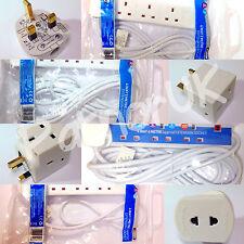 4X stato 1/2/3/4/5 Way Banda Prolunga Presa Spina UK Rete Elettrica Cavo Elettrico