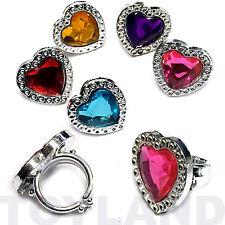 Toy coeur bijou anneaux filles princesse butin cadeaux faveur fête d'anniversaire sac remplissage