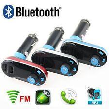 Bluetooth Auto KFZ FM Transmitter SD/AUX/USB MP3 Musik Player Freisprechanlage