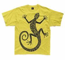 Tribal Lizard Design Tattoo Large Print Kids Children's T-Shirt - Hipster