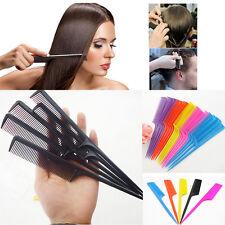 10Pcs Hair Comb Salon Brush Styling Hairdressing Rat Tail Plastic Comb Set