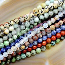 Natural Gemstones 8mm Round  String Beads 15'' ~ 16'' Pick Stone