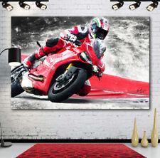 DUCATI MOTORRAD MOTORSPORT Motorräder & Autos BILDER LEINWAND ABSTRAKT 542A