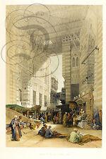 REPRO AFFICHE ROBERT DAVID EGYPT CAIRE MERCERIE BAZAR 1849  PAPIER SATINE 190 GR