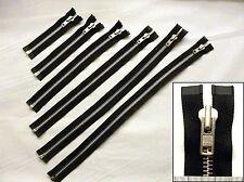 Zip, zipper, épais, extrémité ouverte, séparer, métal YKK, noir