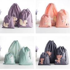 3Pcs Lot Home Laundry Shoe Travel Pouch Tote Drawstring Waterproof Storage Bag