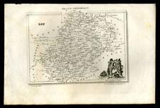 Carte département du Lot GRAVURE ORIGINALE DE 1836