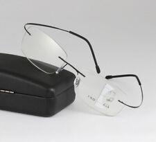 New Titanium Frameless Multi Focal Progressive Reading Glasses reading&distance