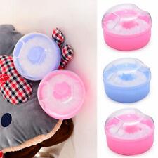 Powder Talcum Comfortable Face Kids Baby Case Infant Puff Sponge Box Container
