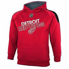 Reebok Detroit Ailes Rouges Performance Sweat-Shirt à Capuche Nwt Jeune S Taille