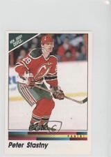 1990-91 Panini Album Stickers #70 Peter Stastny New Jersey Devils Hockey Card
