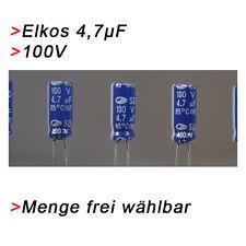ELKO Kondensatoren 4,7 µF 100V (BIS 100V) Elkos Elektrolytkondensator 4,7µF uF