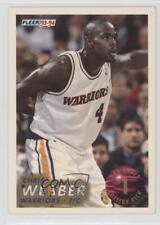 1993-94 Fleer NBA Draft Lottery 1 Chris Webber Golden State Warriors Rookie Card
