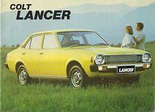 Mitsubishi Colt Lancer 1978 UK Market Sales Brochure 1200 Super 1400 GL 1600 GSR