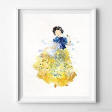 Snow White Type 1 Wall Art Disney Watercolor Poster Nursery Room Decor UNFRAMED